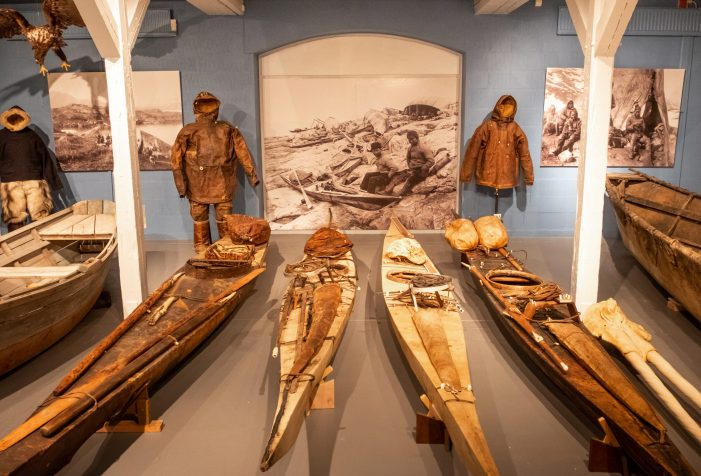 Kayaking-exhibition-at-National-Museum-in-Nuuk-cultural-activity-city-tour-Guide-to-Greenland