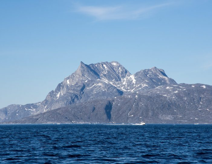 Sermitsiaq with a boat- Nuuk fjord- boat tours- Guide to Greenland