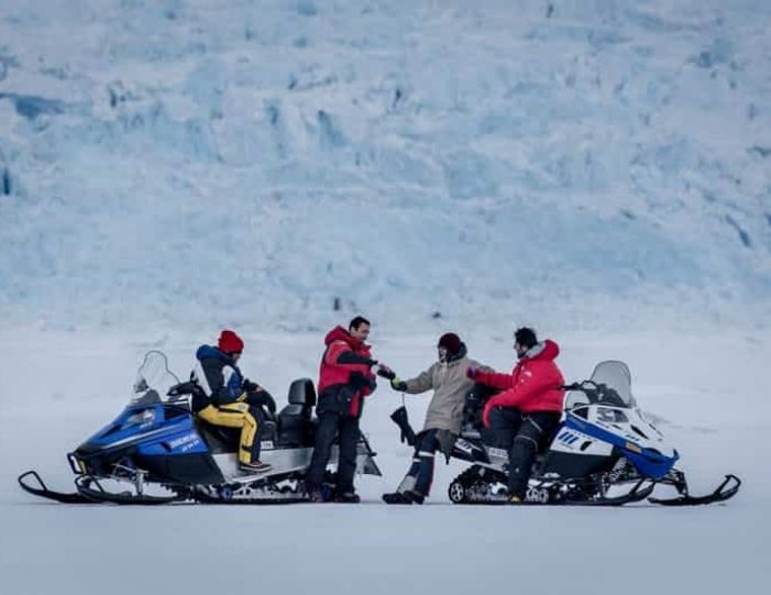 Snowmobile _ Snowshoe adventure Ilulissat Disko Bay - Guide to Greenland1
