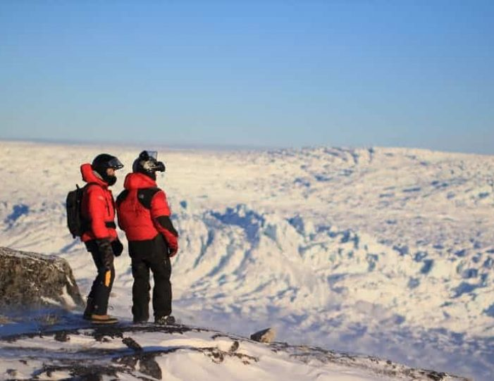 Snowmobile _ Snowshoe adventure Ilulissat Disko Bay - Guide to Greenland9