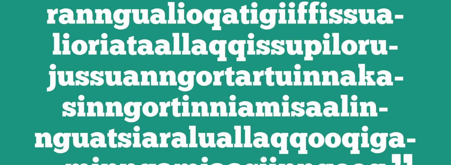 The longest word in the Greenlandic language - Guide to Greenland