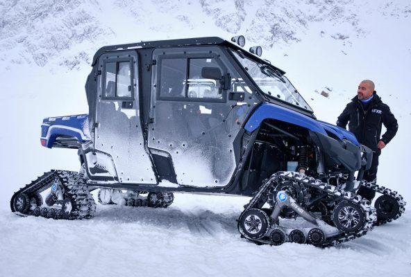 The monster snowmobile in Sisimiut
