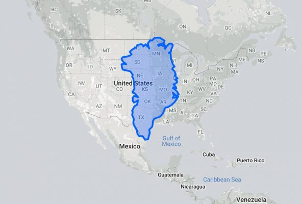 The true size of Greenland, should it be a Continent? - Guide to Greenland4