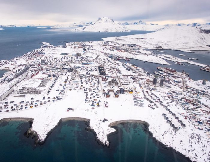 aerial-view-of-nuuk-helicopter-summit-scenic-flight-nuuk -winter- Guide to Greenland