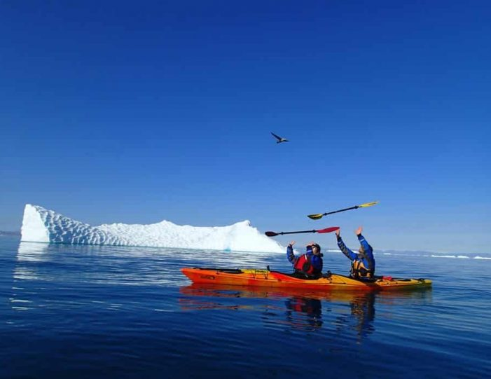 morning-kayak-among-icebergs-ilulissat-disko-bay - Guide to Greenland (1)