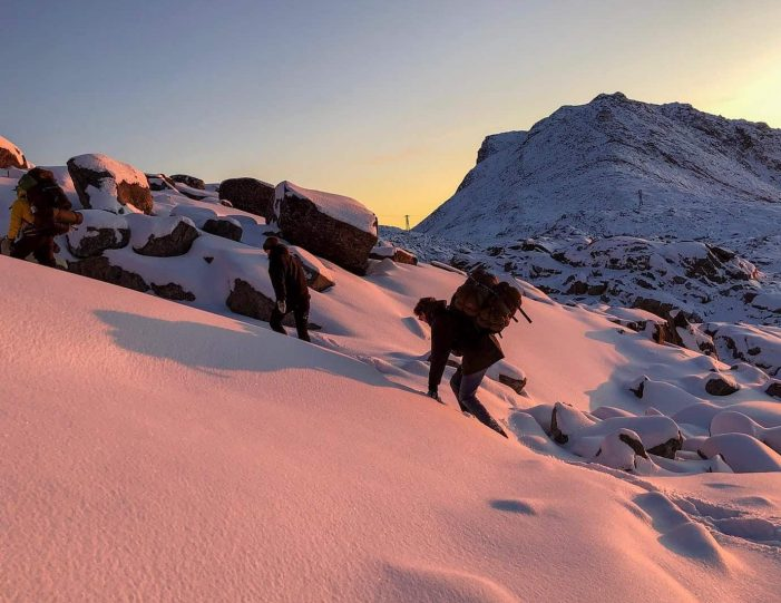 northern-lights-from-a-mountain-top-snowshoe-tour-in-nuuk - Guide to Greenland5