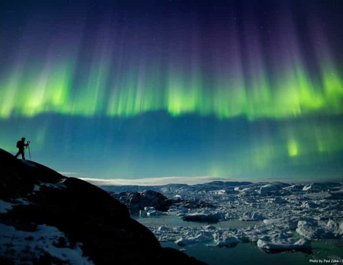 snowshoe-in-the-northern-night-ilulissat-disko-bay - Guide to Greenland2