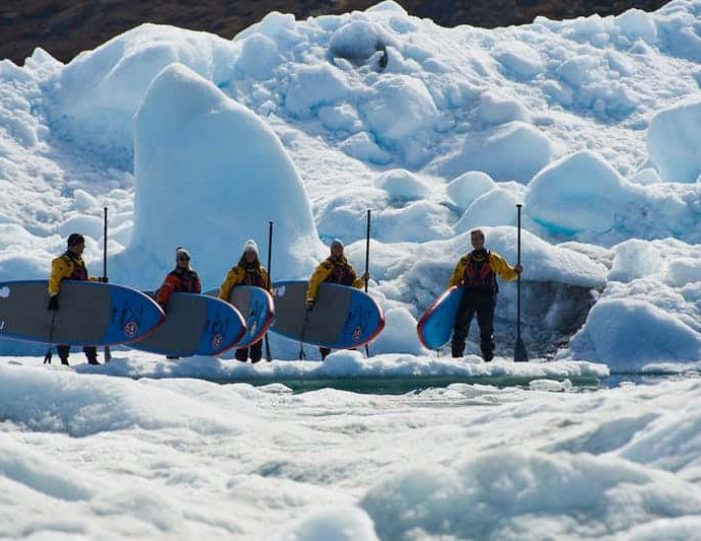 stand-up-paddleboarding-amongst-the-icebergs-nuuk-west-greenland - Guide to Greenland3